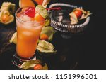 alcoholic cocktail with vodka ... | Shutterstock . vector #1151996501