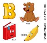 illustration of b alphabet   Shutterstock .eps vector #1151998481