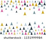 magic firs frame for christmas... | Shutterstock .eps vector #1151999984