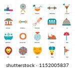 set of 20 icons such as flag ...