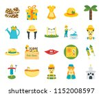 set of 20 icons such as church  ...