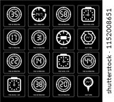 set of 16 icons such as 24 7...   Shutterstock .eps vector #1152008651