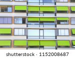 front view of apartment house... | Shutterstock . vector #1152008687