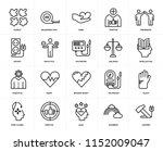 set of 20 icons such as hammer  ... | Shutterstock .eps vector #1152009047