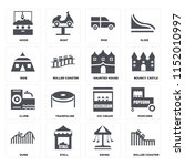 set of 16 icons such as roller...   Shutterstock .eps vector #1152010997
