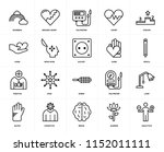 set of 20 icons such as... | Shutterstock .eps vector #1152011111