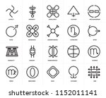 set of 20 icons such as zinc ...