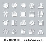 insomnia paper cut icons set.... | Shutterstock .eps vector #1152011204