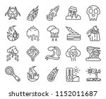 set of 20 icons such as drought ...