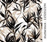 imprints monochrome dracaena... | Shutterstock . vector #1152012194