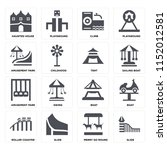 set of 16 icons such as slide ...   Shutterstock .eps vector #1152012581