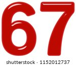 numeral 67  sixty seven ... | Shutterstock . vector #1152012737
