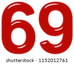 numeral 69  sixty nine ... | Shutterstock . vector #1152012761