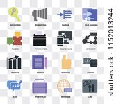 set of 16 icons such as link ... | Shutterstock .eps vector #1152013244