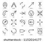 set of 20 icons such as up...