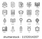 set of 20 icons such as clock ...