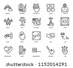 set of 20 icons such as love ... | Shutterstock .eps vector #1152014291