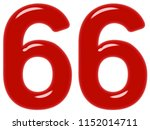 numeral 66  sixty six  isolated ... | Shutterstock . vector #1152014711