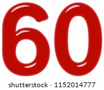 numeral 60  sixty  sixty ... | Shutterstock . vector #1152014777