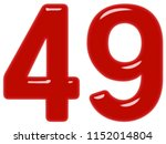 numeral 49  forty nine ... | Shutterstock . vector #1152014804