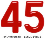 numeral 45  forty five ... | Shutterstock . vector #1152014831