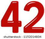 numeral 42  forty two  isolated ... | Shutterstock . vector #1152014834