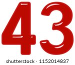 numeral 43  forty three ... | Shutterstock . vector #1152014837