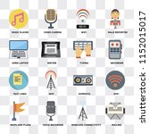 set of 16 icons such as mailing ...   Shutterstock .eps vector #1152015017