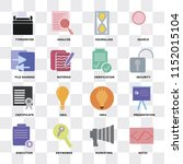 set of 16 icons such as ratio ... | Shutterstock .eps vector #1152015104
