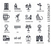 set of 16 icons such as haunted ...   Shutterstock .eps vector #1152016367