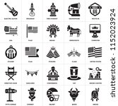 set of 25 icons such as indian  ...