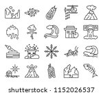 set of 20 icons such as fish...