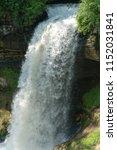 beautiful waterfall close up... | Shutterstock . vector #1152031841