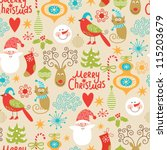 seamless background  christmas... | Shutterstock .eps vector #115203679
