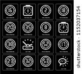 set of 16 simple editable icons ...   Shutterstock .eps vector #1152037154