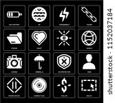 set of 16 icons such as select  ...