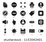 set of 20 icons such as switch  ...