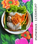 vietnamese food serve on the... | Shutterstock . vector #1152045197
