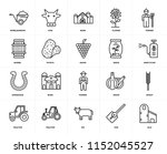 set of 20 icons such as silo ...