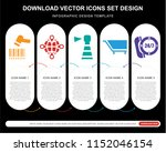 5 vector icons such as barcode... | Shutterstock .eps vector #1152046154