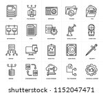 set of 20 simple editable icons ... | Shutterstock .eps vector #1152047471