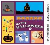 happy halloween poster   Shutterstock .eps vector #1152050807