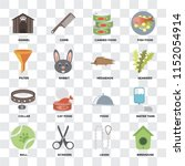 set of 16 icons such as... | Shutterstock .eps vector #1152054914