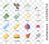 set of 16 icons such as grinder ... | Shutterstock .eps vector #1152056714