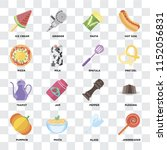 set of 16 icons such as... | Shutterstock .eps vector #1152056831
