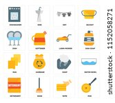 set of 16 icons such as pan ... | Shutterstock .eps vector #1152058271