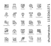 business management icons pack ... | Shutterstock .eps vector #1152061571