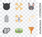 set of 9 simple transparency...   Shutterstock .eps vector #1152062204