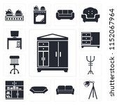 set of 13 simple editable icons ... | Shutterstock .eps vector #1152067964