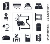 set of 13 simple editable icons ... | Shutterstock .eps vector #1152069044